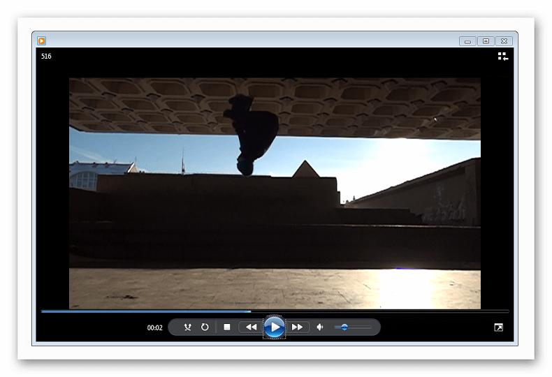 Загруженное видео в Windows Media